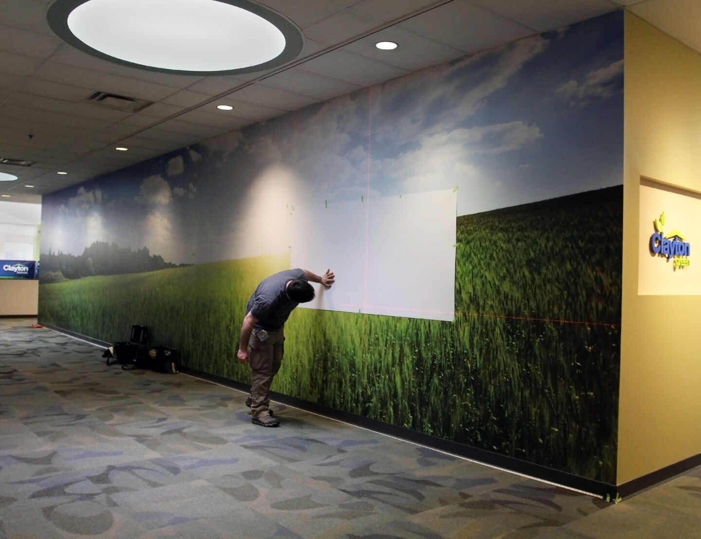 Clayton Homes Timeline Wall Mural - High Resolutions