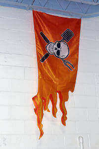 Orange pirate flag